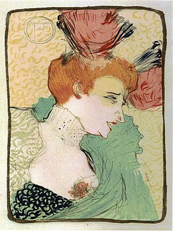 Henri de Toulouse-Lautrec I Mademoiselle Marcelle Lender, en buste 1895I farbige Lithographie I Mönchehaus Museum Goslar 2008