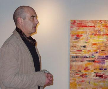 Künstlergespräch – in der Ausstellung FARBE RAUM ENERGIE Michael Burges im Mönchehaus Museum Goslar, 2007