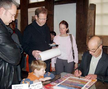 Vernissage – Michale Burges signiert Michael Burges im Mönchehaus Museum Goslar, 2007