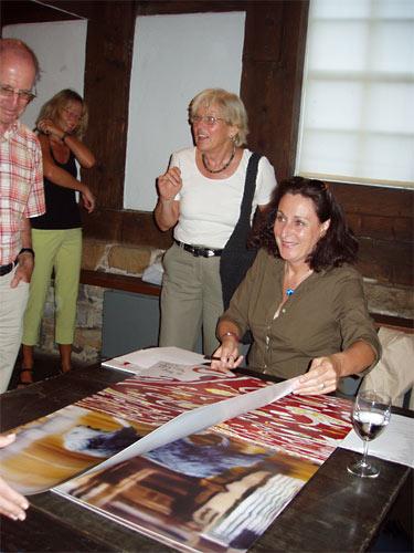 Ausstellungseröffnung - immer etwas Besonderes - Karin Kneffel signiert Verführung und Distanz - Mönchehaus Museum Goslar 2006