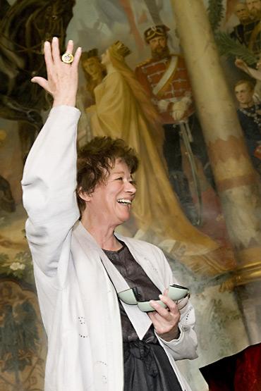 Bridget Riley Kaiserringträgerin der Stadt Goslar 2009