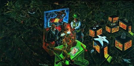 Kleine Reise (Hasensülze), 1990, Öl auf Leinwand, 250 x 500 cm Provenienz: Galerie Michael Werner, Köln und New York; Galerie Daniel Templon, Paris