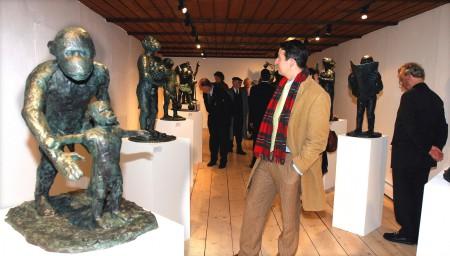 Ausstellungseröffnung, Skulpturenreihe »Malerstamm« Foto: Uwe Epping, Goslar