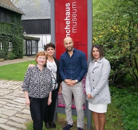 (von links nach rechts) Integrationsbeauftragte der Stadt Goslar Galina Gerhart, Razieh Akbari, Qasim Alsharqy und Sareh Dianati / Foto: Elke Brummer