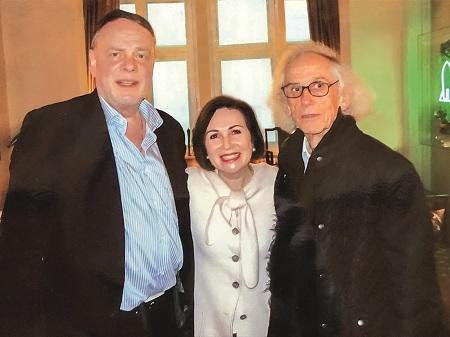 Thomas und Ingrid Jochheim mit Christo in Berlin, 2016